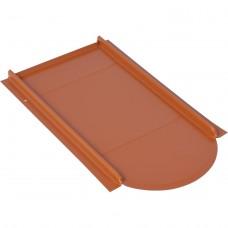 Metalldachplatte Typ Biber Vario, braun